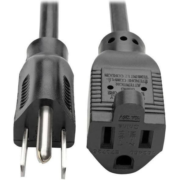 Tripp Lite Power Extension Cord 18 AWG 10A NEMA 5-15R to NEMA 5-15P 6ft 6' - P022-006
