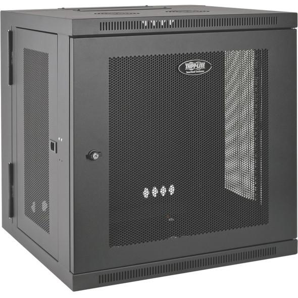 Tripp Lite 10U Wall Mount Rack Enclosure Server Cabinet Hinged w/ Door & Sides - SRW10US