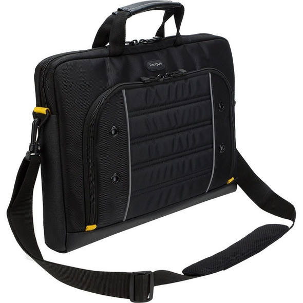 "Targus Drifter Carrying Case (Briefcase) for 15.6"" Notebook - Black, Gray - TSS874"