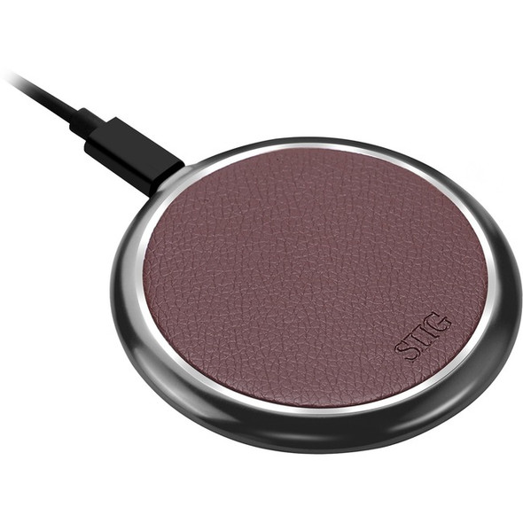 SIIG Premium Wireless Smartphone Charger Pad - Brown - AC-PW1K12-S1