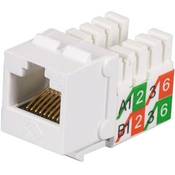 Black Box GigaBase2 CAT5e Jack, Universal Wiring, White, 25-Pack - FMT929-R2-25PAK