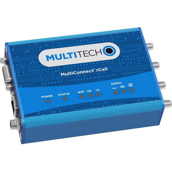 Multi-Tech MultiConnect rCell MTR-LNA7 IEEE 802.11b/g/n Cellular, Ethernet Modem/Wireless Router - MTR-LNA7-B10-US