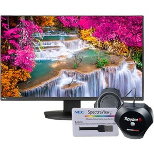 "NEC Display MultiSync EA271U-BK-SV 27"" 4K UHD WLED LCD Monitor - 16:9 - EA271U-BK-SV"