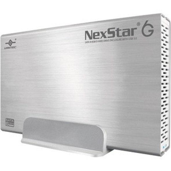 Vantec NexStar 6G NST-366S3-SV Drive Enclosure - USB 3.0 Host Interface External - Silver - NST-366S3-SV
