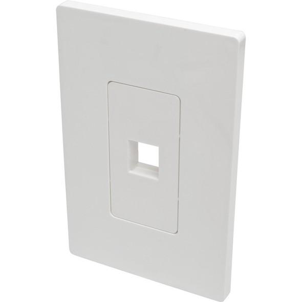 Tripp Lite Single-Gang 1-Port Wall Plate Keystone Cat5/6 USB HDMI Dport RCA - N080-101