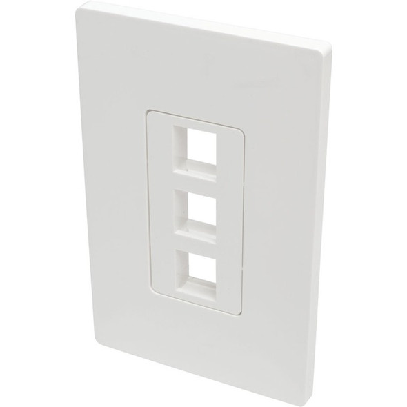 Tripp Lite Single-Gang 3-Port Wall Plate Keystone Cat5/6 USB HDMI Dport RCA - N080-103