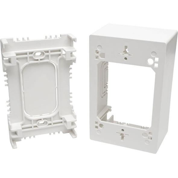 Tripp Lite Single-Gang Surface-Mount Junction Box Wallplate White - N080-SMB1-WH