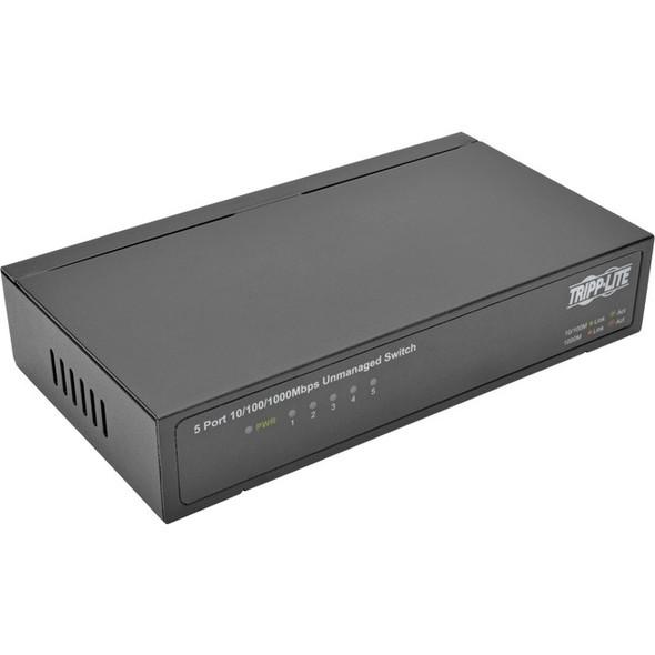 Tripp Lite 5-Port Gigabit Ethernet Switch Desktop Metal Unmanaged Switch 10/100/1000 Mbps - NG5
