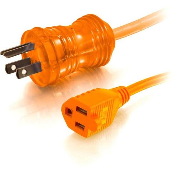 C2G 8ft 16 AWG Hospital Grade Power Extension Cord (NEMA 5-15P to NEMA 5-15R) - Orange - 48072