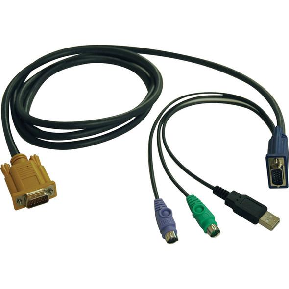 Tripp Lite 6ft USB / PS2 Cable Kit for KVM Switches B020-U08 / U16 & B022-U16 - P778-006