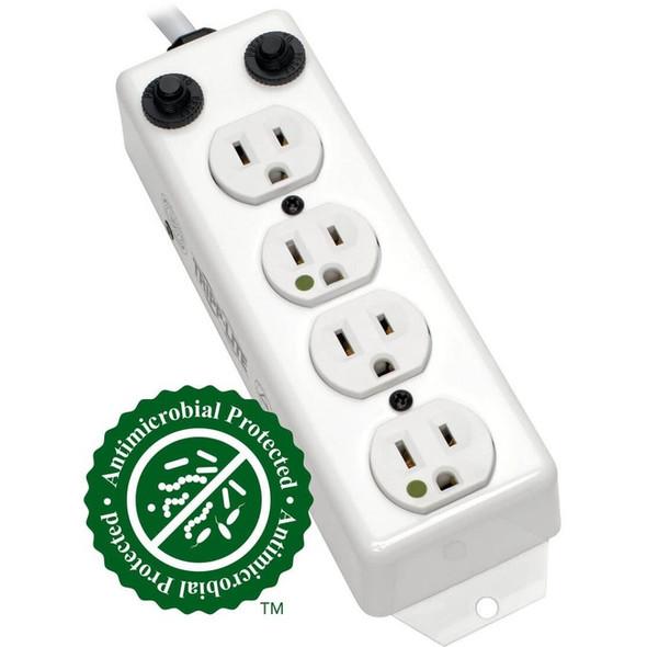 Tripp Lite Power Strip Medical 120V 5-15R-HG 4 Outlet UL 1363A 2' Cord - PS-402-HG-OEM