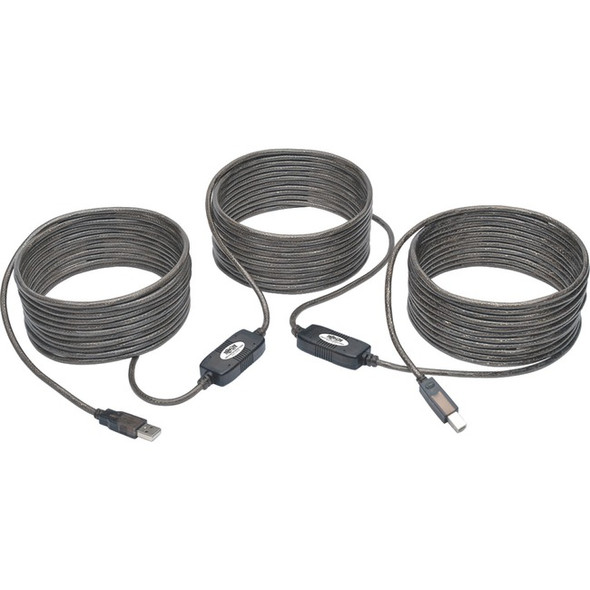 Tripp Lite 50ft USB 2.0 Hi-Speed Active Repeater Cable USB-A to USB-B M/M - U042-050