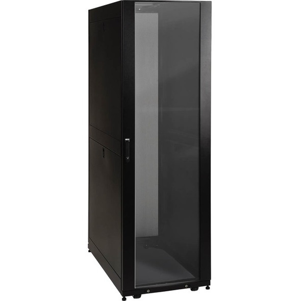 Tripp Lite 42U Rack Enclosure Server Cabinet Door & Sides w/Acrylic Window - SR42UBG