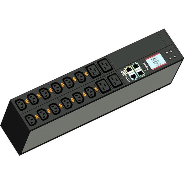 Legrand Rack PDU, Network Metered, ZeroU, 24A, 208V, (36) C13 &(6) C19, L6-30P Cord - LP-42320