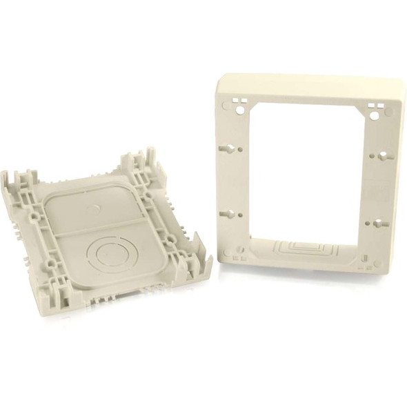 C2G Wiremold Uniduct Double Gang Deep Junction Box - Ivory - 16044