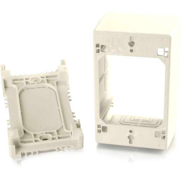 C2G Wiremold Uniduct Single Gang Extra Deep Junction Box - Ivory - 16041