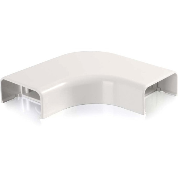 C2G Wiremold Uniduct 2900 Bend Radius Compliant Flat Elbow - White - 16055