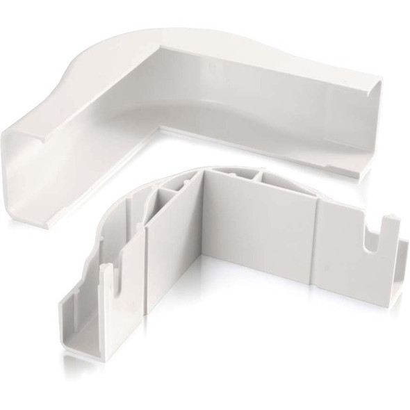 C2G Wiremold Uniduct 2900 Bend Radius Compliant External Elbow - White - 16070