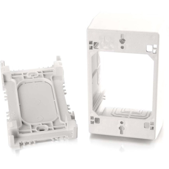 C2G Wiremold Uniduct Single Gang Extra Deep Junction Box - White - 16086