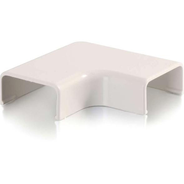 C2G Wiremold Uniduct 2800 9 Flat Elbow - Fog White - 16097