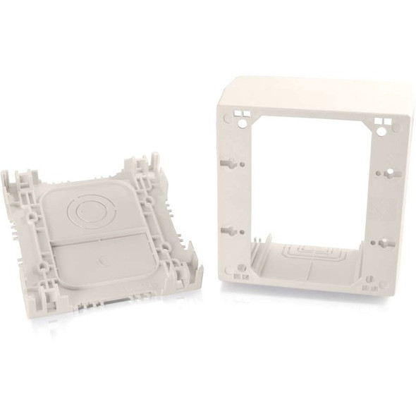 C2G Wiremold Uniduct Double Gang Extra Deep Junction Box - Fog White - 16132