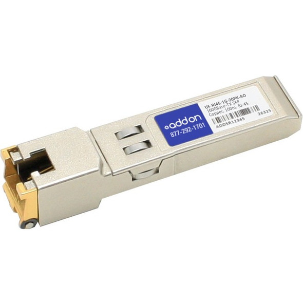 AddOn SFP (miniGBIC) Module - UF-RJ45-1G-20PK-AO