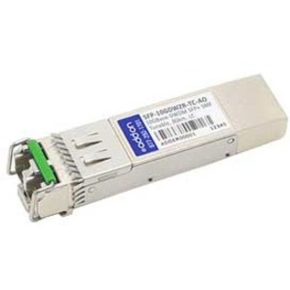 AddOn MRV SFP-10GDWZR-TC Compatible TAA Compliant 10GBase-DWDM 50GHz SFP+ Transceiver (SMF, Tunable, 80km, LC, DOM) - SFP-10GDWZR-TC-AO