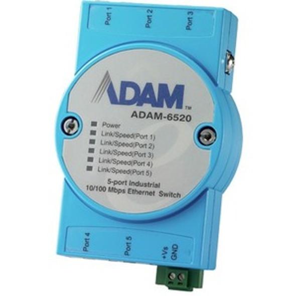 Advantech 5-port 10/100 Mbps Industrial Ethernet Switch - ADAM-6520-BE