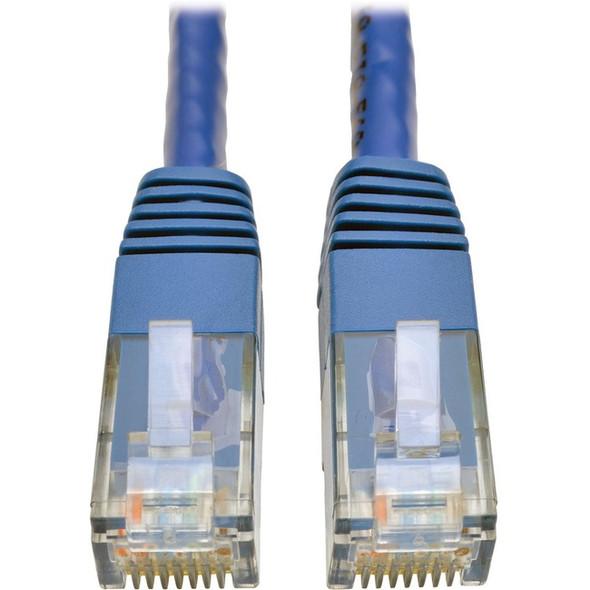 Tripp Lite Cat6 Cat5e Gigabit Molded Patch Cable RJ45 M/M 550MHz Blue 75ft 75' - N200-075-BL