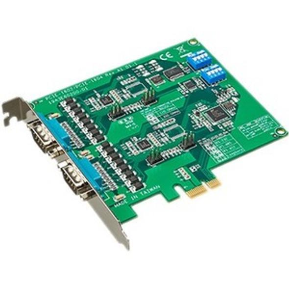 Advantech 2-port RS-232/422/485 PCI Express Communication Card w/Surge & Isolation - PCIE-1602C-AE