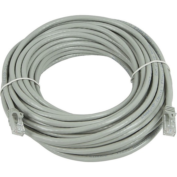 Monoprice FLEXboot Series Cat6 24AWG UTP Ethernet Network Patch Cable, 75ft Gray - 11375