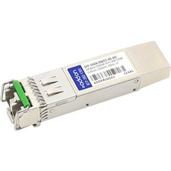 AddOn MSA and TAA Compliant 10GBase-DWDM 100GHz SFP+ Transceiver (SMF, 1531.90nm, 40km, LC, DOM) - SFP-10GB-DW57-40-AO