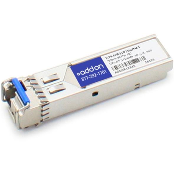 AddOn Ciena XCVR-S40V55_W23-60KM Compatible TAA Compliant 10GBase-BX SFP+ Transceiver (SMF, 1270nmTx/1330nmRx, 60km, LC, DOM) - XCVR-S40V55W2360KMAO
