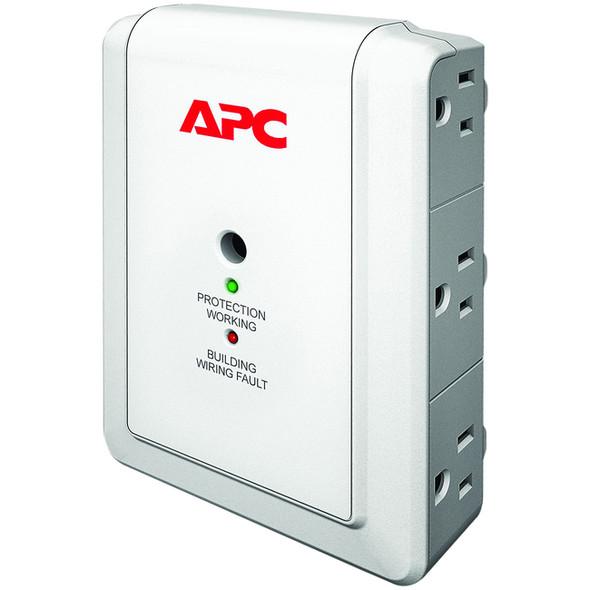 APC by Schneider Electric SurgeArrest Essential P6W 6-Outlets Surge Suppressor - P6W