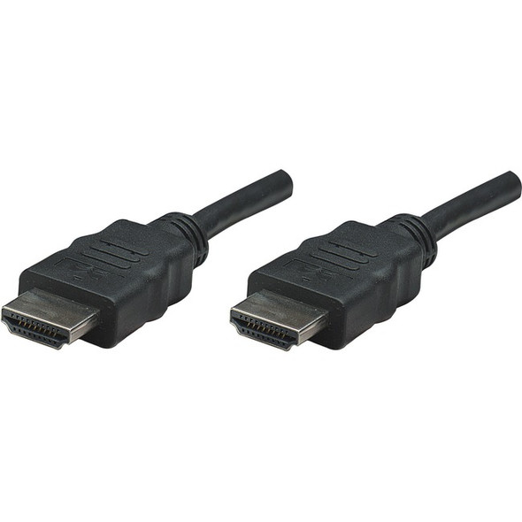 Manhattan HDMI Male to Male High Speed Shielded Cable, 25', Black - 308441