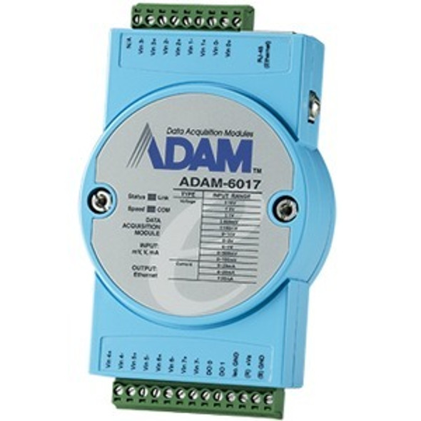 B+B SmartWorx 8-ch Isolated Analog Input Modbus TCP Module with 2-ch DO - ADAM-6017-D
