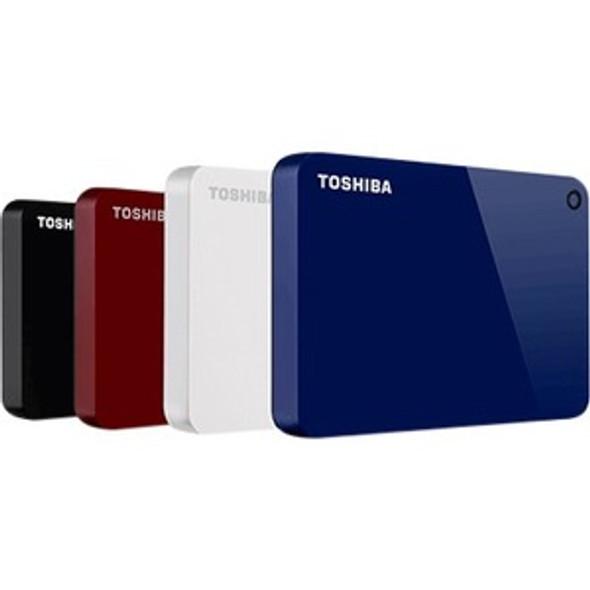 Toshiba Canvio Advance HDTC910XK3AA 1 TB Portable Hard Drive - External - Black - HDTC910XK3AA