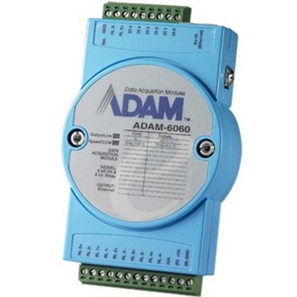 Advantech 6-ch Digital Input and 6-ch Relay Modbus TCP Module - ADAM-6060-D