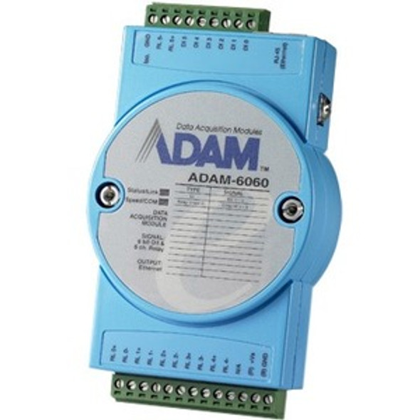 Advantech 6-ch Digital Input and 6-ch Relay Modbus TCP Module - ADAM-6060-D