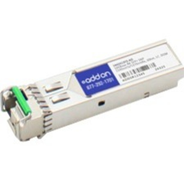 AddOn ADTRAN 1442412F2 Compatible TAA Compliant 10GBase-BX SFP+ Transceiver (SMF, 1330nmTx/1270nmRx, 60km, LC, DOM) - 1442412F2-AO