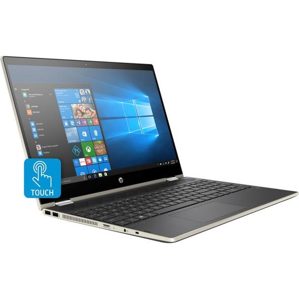 "HP Pavilion x360 15-cr0000 15-cr0087cl 15.6"" Touchscreen 2 in 1 Notebook - 1366 x 768 - Core i5 i5-8250U - 8 GB RAM - 16 GB Optane Memory - 1 TB HDD - 16 GB Flash Memory - Pale Gold, Ash Silver - Refurbished - 4WJ88UAR#ABA"