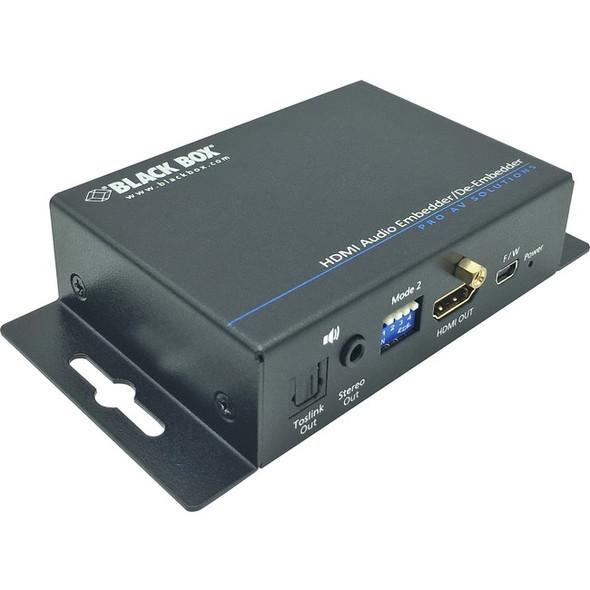 Black Box Audio Embedder/De-embedder - HDMI 2.0 - AEMEX-HDMI-R2