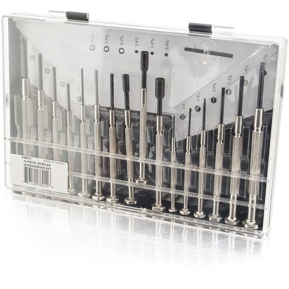 C2G 16pc Jeweler Screwdriver Set - 38014