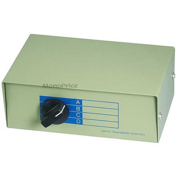Monoprice RJ11 / RJ12 ABCD 6P6C 4Way, Switch Box - 1372