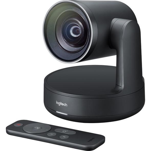 Logitech Video Conferencing Camera - 13 Megapixel - 60 fps - Matte Black, Slate Gray - USB 3.0 - 960-001226