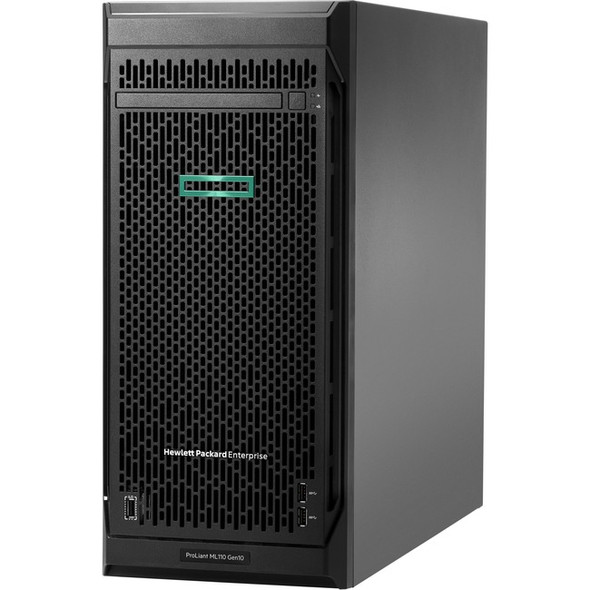 HPE ProLiant ML110 G10 4.5U Tower Server - 1 x Xeon Silver 4208 - 16 GB RAM HDD SSD - Serial ATA/600 Controller - P10812-001
