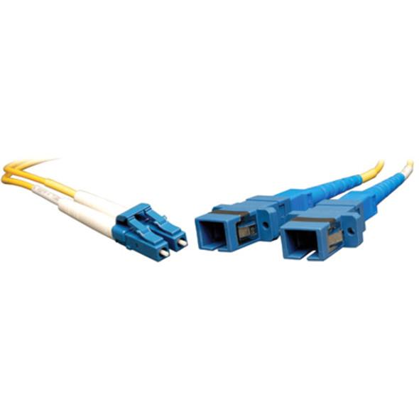 Tripp Lite 0.3M Duplex Multimode Fiber Optic 8.3/125 Adapter LC/SC M/F 1ft 1' 0.3 Meter - N458-001-9