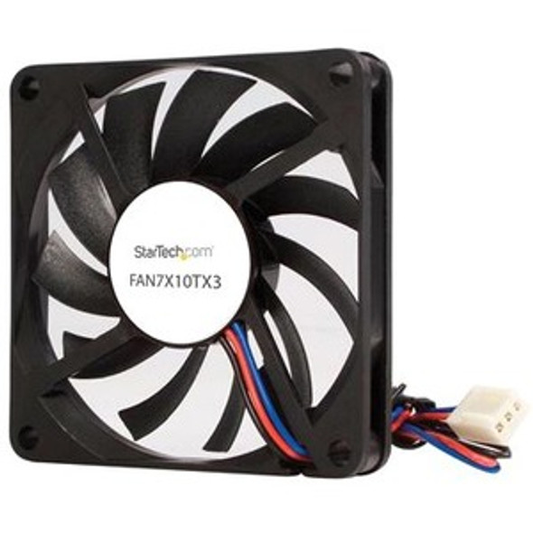 StarTech TX3 Dual Ball Bearing Replacement Fan - CPU Cooler fan - 70 mm - black - FAN7X10TX3