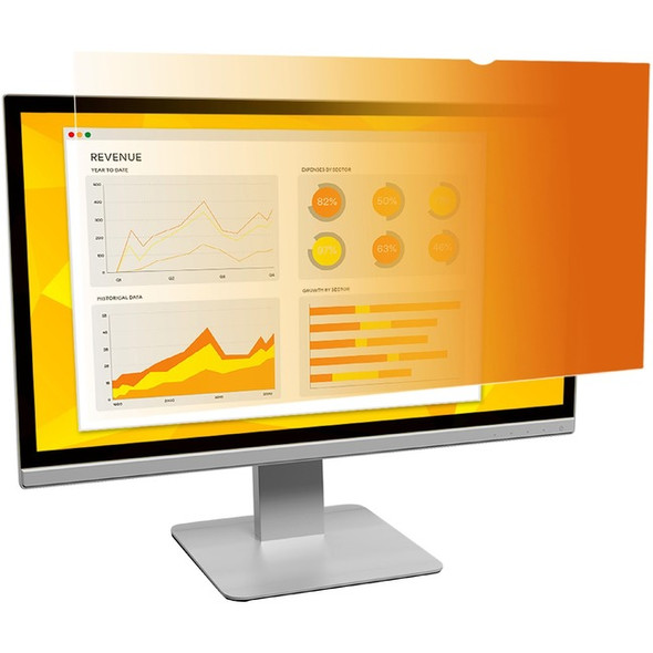 """3M Gold Privacy Filter for 19"""" Standard Monitor - GF190C4B"""