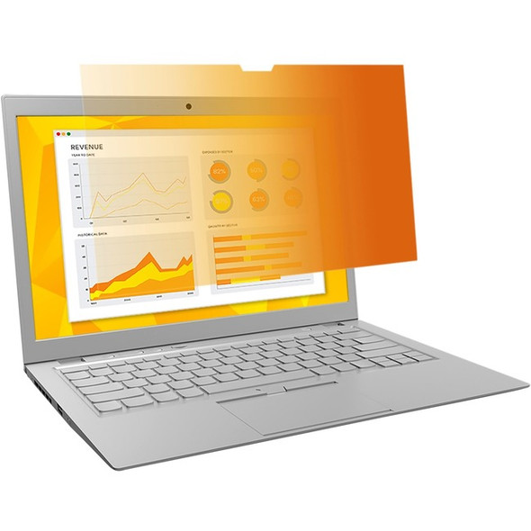 """3M Gold Privacy Filter for 13.3"""" Widescreen Laptop (16:10) - GF133W1B"""